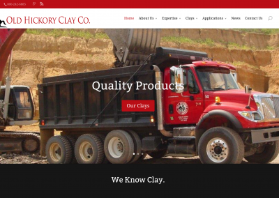 Old Hickory Clay Website