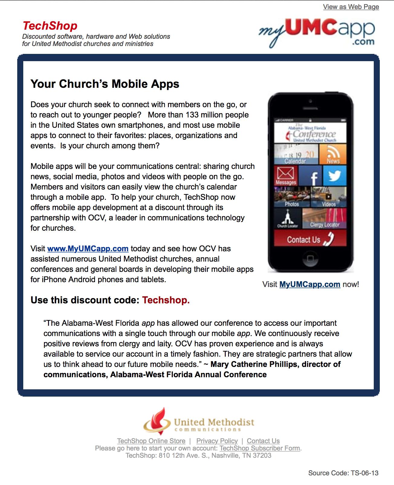 Email Marketing for UMCom TechShop
